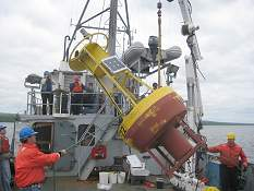 Deploying the LLO buoy in 2008
